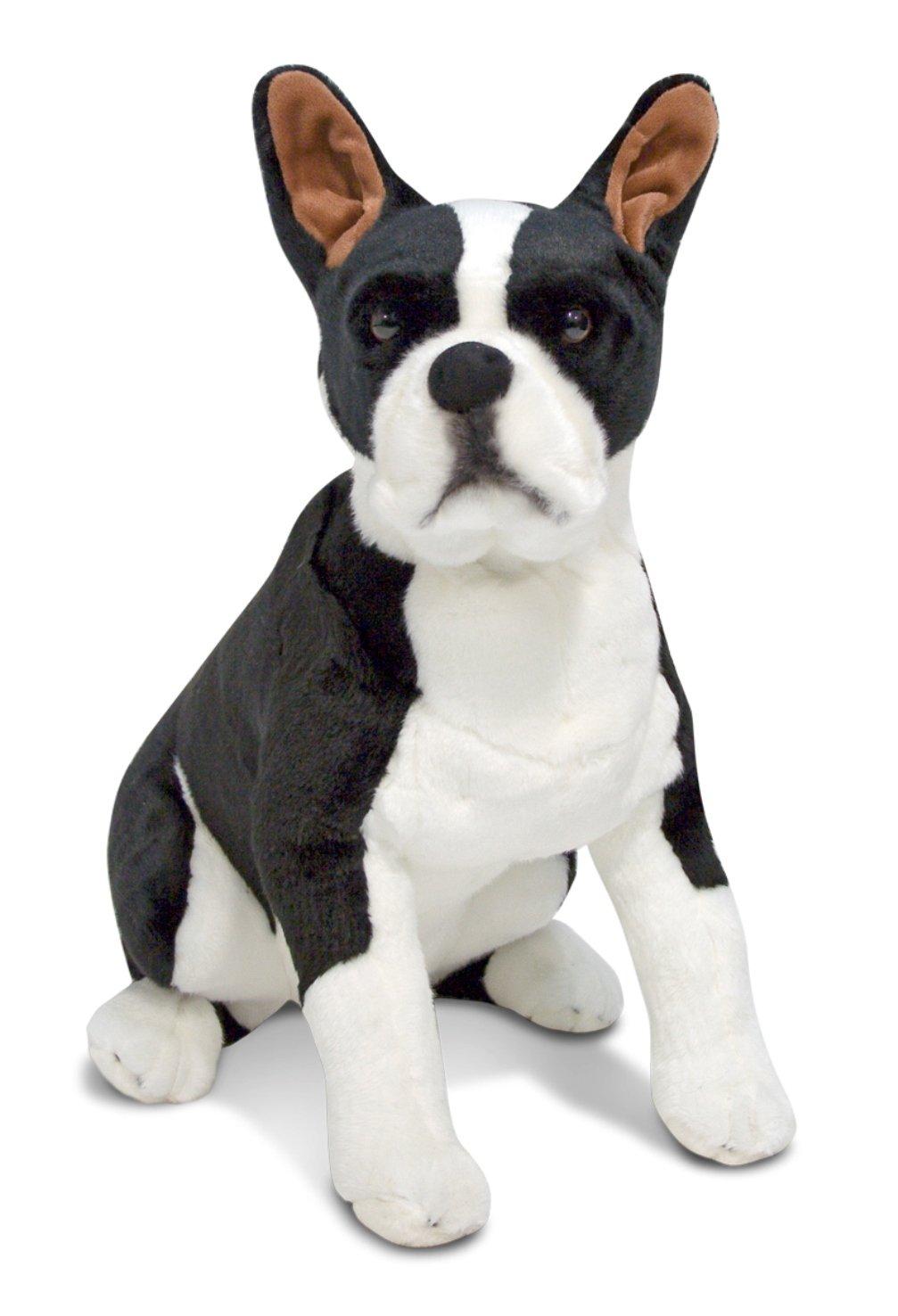 amazoncom melissa  doug giant boston terrier  lifelike stuffed  - amazoncom melissa  doug giant boston terrier  lifelike stuffed animaldog melissa  doug   toys  games
