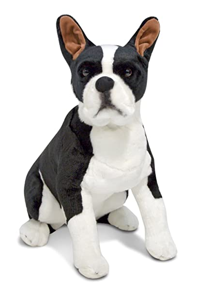 Amazon Com Melissa Doug Giant Boston Terrier Lifelike Stuffed