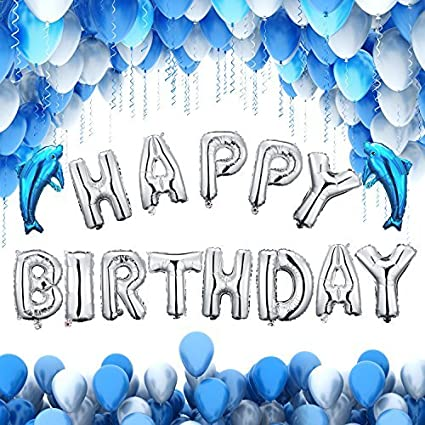 amazon com bestty happy birthday balloons 100 pcs blue birthday