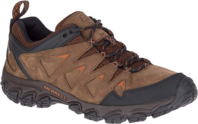 MENS MERRELL LEATHER PULSATE LACE UP WALKING HIKING TRAINERS WATERPROOF BOOTS