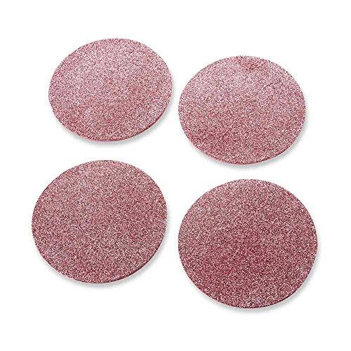 Pink Coaster - Kate Aspen Pink Glitter Coaster (Set of 4), 4 Piece