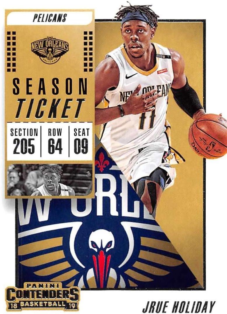 2018-19 Panini Contenders Season Ticket #91 Jrue Holiday New Orleans Pelicans Basketball Card