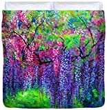 The Wind Whispers Wisteria - Duvet Cover, King