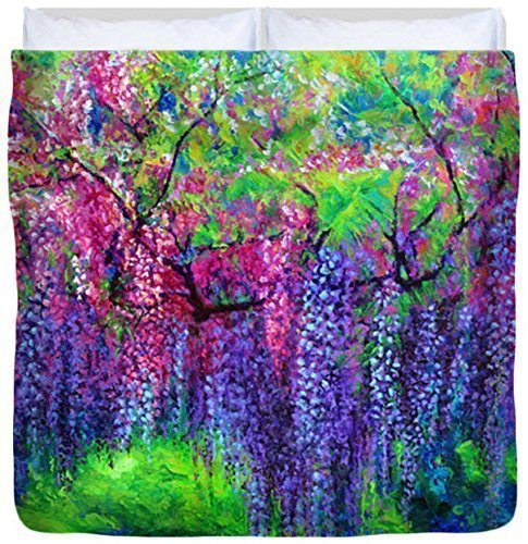 The Wind Whispers Wisteria - Duvet Cover, King by Julie Turner Gallery: Home Decor, etc.
