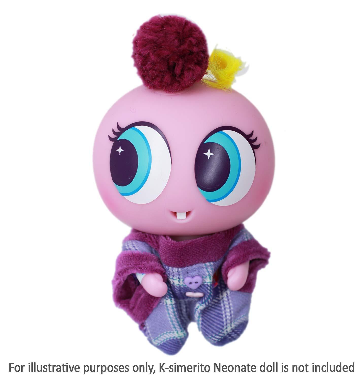 Edition in Spanish Distroller Nerlie Neonate Baby Doll Ksimerito Purple Dress w// Purple Pompom Scrunchie