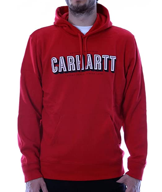 Carhartt - Sudadera roja - Hooded Start Early (S, Rojo)