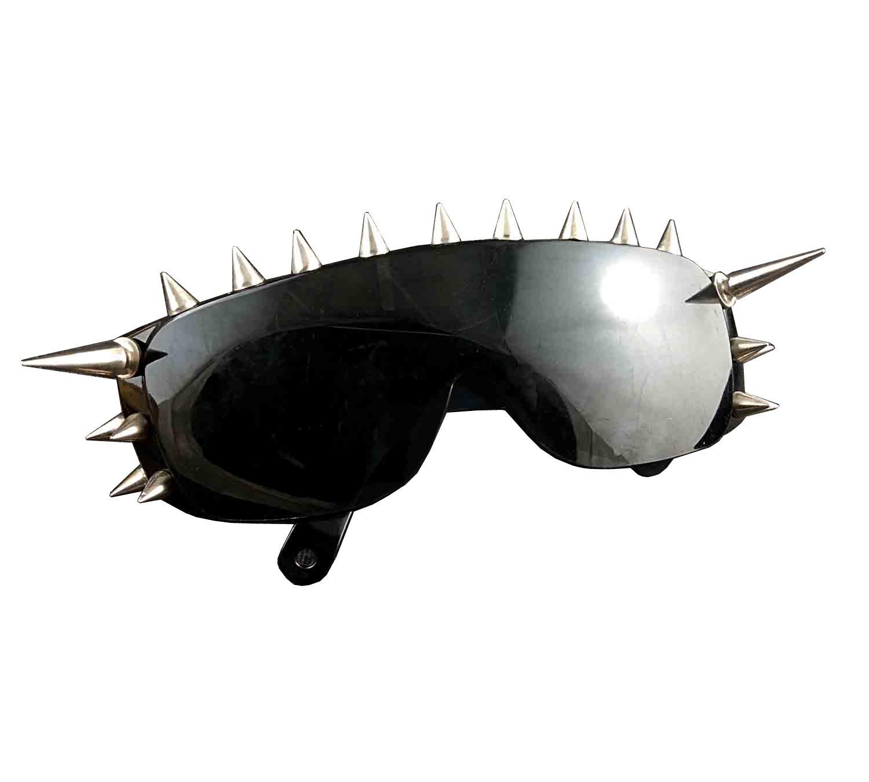 Cool Rock Punk Spike Sunglasses Metal Studded Moto Biker Glasses Black by punkman2000