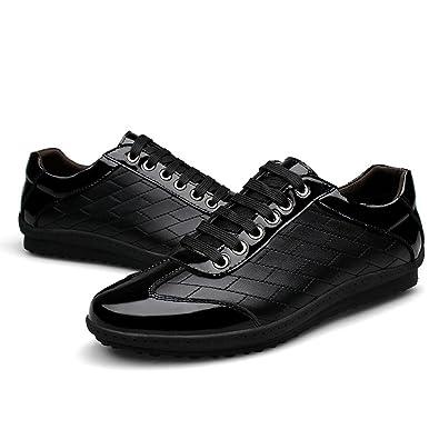 nbsamengの韓国レザーカジュアルメンズシューズブランドトレンドファッションメンズ靴 カラー ブラック