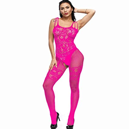 ❤ Modaworld Bodys Mujer Sexy Transparente Picardias eroticas Bodystockings de Entrepierna Abierta Pijama Ropa Interior Chemise Babydoll Monos señoras ...