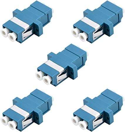 Fiber Optic Adapter SC-UPC Duplex Singlemode SM 9//125 Blue Fiber Optic Enclosure Panel 5 Pack