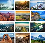 12 Famous Photographic Landscape / Scenic Blank Greeting Cards