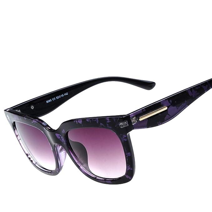 Amazon.com: Gafas de sol para mujer con espejo 8085, talla ...