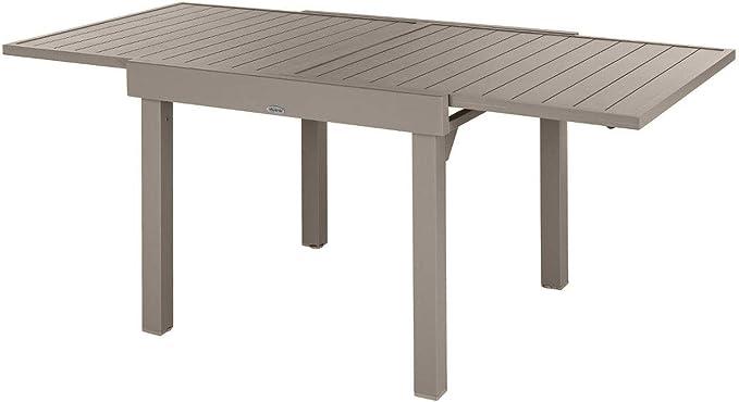 Hespéride - Mesa de jardín Extensible para 8 Personas 90/180 cm – Marrón Tonka: Amazon.es: Jardín