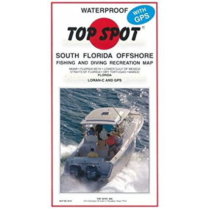 South Florida Map.Amazon Com Top Spot N210 South Florida Offshore Fishing Map