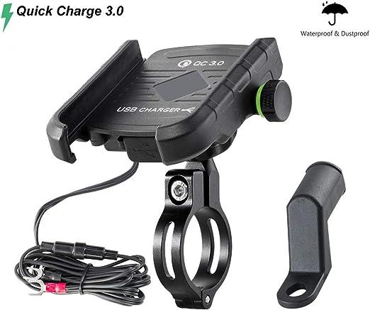 Amazon.com: Soporte de teléfono para motocicleta con ...
