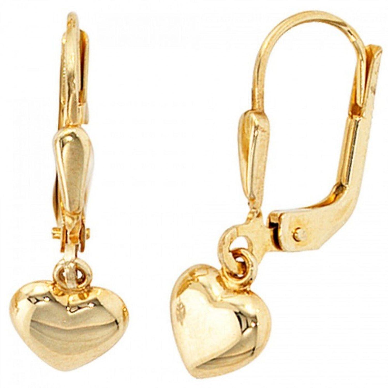 Boutons 333--G Ohrringe gold goldene Ohrhänger Ohrschmuck gold