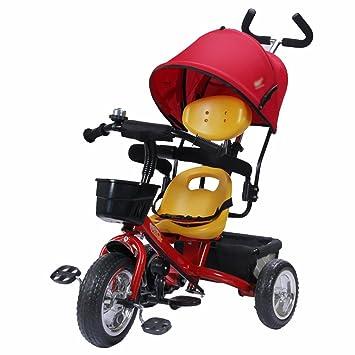 Triciclos niños Bicicleta 1-4 años Carrito de bebé Carrito de niños Bicicleta Trike Niños 3 Ruedas (Color : Rojo) : Amazon.es: Juguetes y juegos