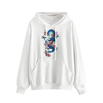 SweatyRocks Womens Long Sleeve Floral Print Pullover Hoodie Sweatshirt Tops at Women's Clothing store