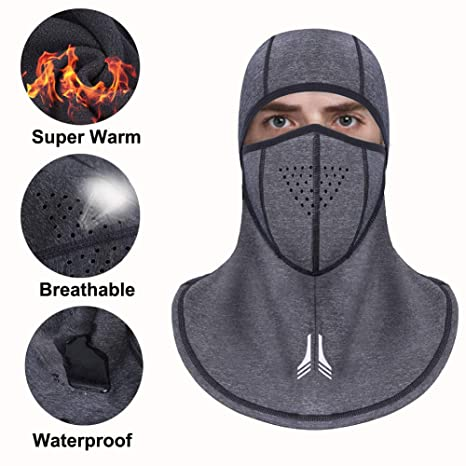 Passamontagna Sci Maschera da sci antivento Maschere invernali Uomo Donna  Scaldacollo Tessuto termico in pile con 5342ac52faa5