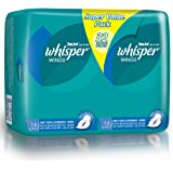 Whisper Heavy and Overnight Flow Wings Sanitary Pads, 32ct