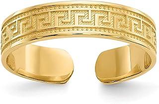 Black Bow Jewellery Company : Greek Key Toe Ring in 14K Yellow Gold