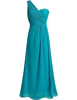 153a1546e Freebily Vestido Largo de Gasa para Mujer Dama de Honor Vestido de Cóctel  Fiesta Ceremonia Noche