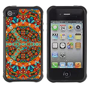 Paccase / Suave TPU GEL Caso Carcasa de Protección Funda para - Mandala Art Tibet Buddhism Art Spiritual Colorful - Apple Iphone 4 / 4S