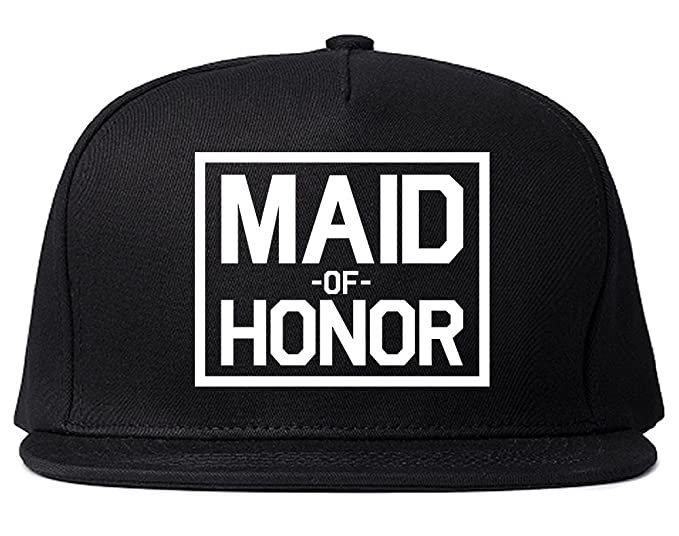 Maid Of Honor Wedding Snapback Hat Cap Black at Amazon Men s ... bcdce270376