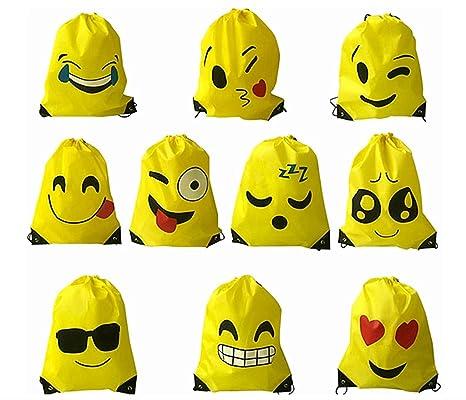 Kinteshun Emoji - Mochila con cordón, Bolsa para el Hombro con ...