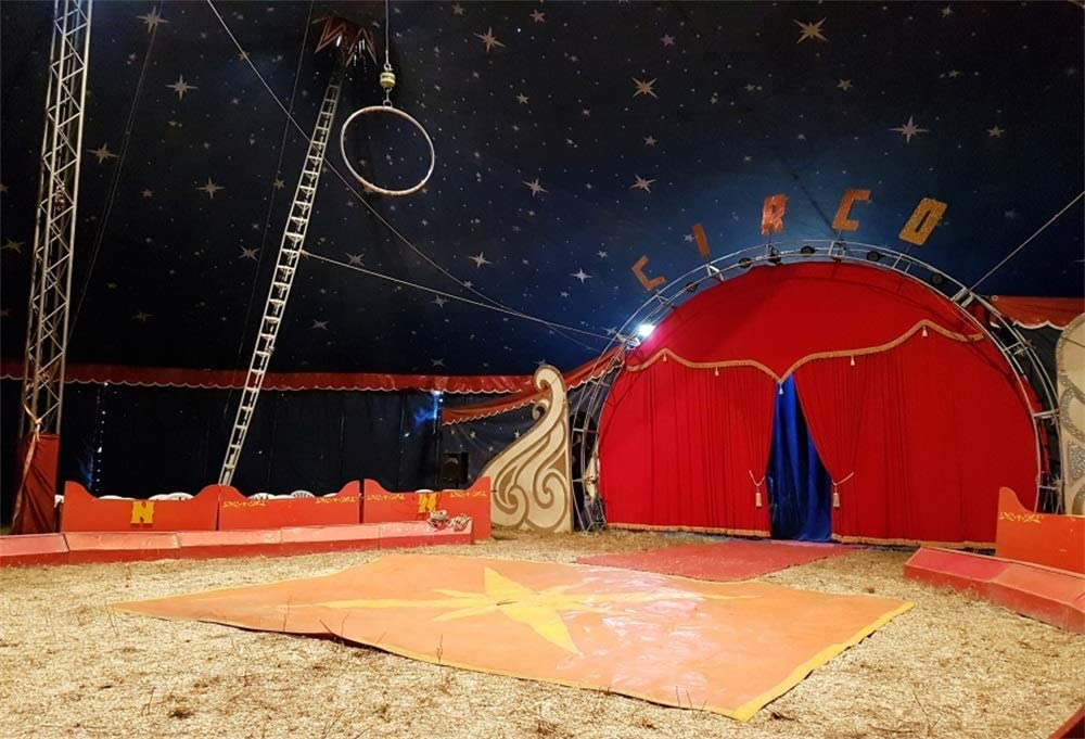 6x4ft Circus Photography Backdrop Birthday Party Decor Background Studio Photo Shoot Props LHFU378 by