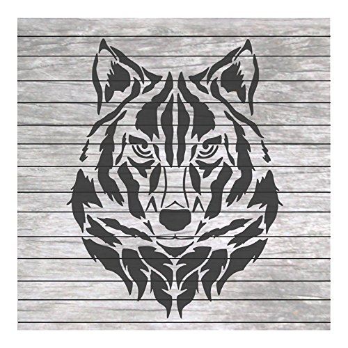 Wolf Head Stencil for Craft and Home Decoration CFT0010