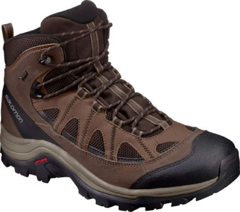 SALOMON Men's Authentic LTR GTX Backpacking Boots, Black Coffee/Chocolate Brown/Vintage Kaki, 10.5 by SALOMON