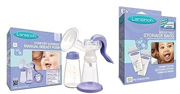 Amazon.com: Lansinoh Confort Express Extractor de leche ...