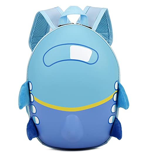 57671a0ee8d1 Cinhent Backpacks Boys Kids Baby Girl Cute Airplane Eggshell Cartoon School  Bag (Blue)