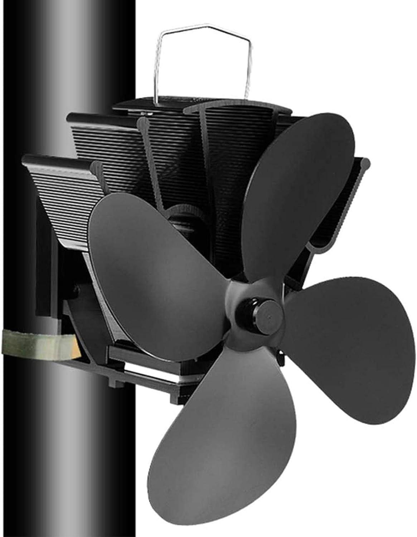 T-XYD Ventilador de Estufa de energía térmica Ventilador para Chimenea de Pared con 4 Cuchillas Operación automática sin Electricidad para la Quema de pellets de Gas de Madera