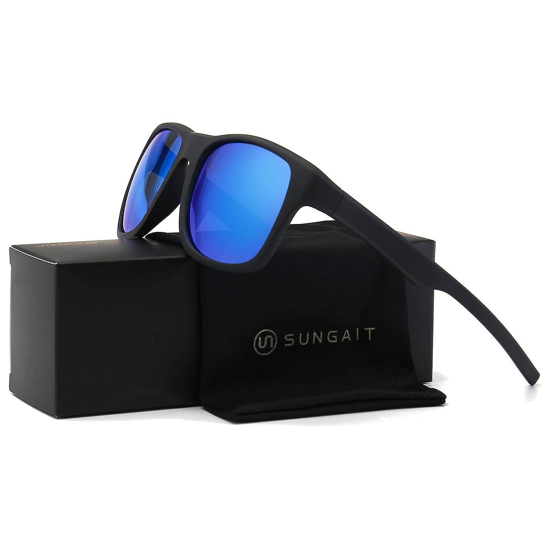 SUNGAIT Vintage Polarized Sunglasses for Men Women