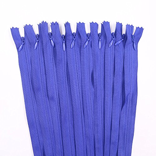 Renashed 45pcs 21.5 Inch Nylon Invisible Zippers for Tailor Sewer Sewing Craft Crafter's Special (Deep Blue)