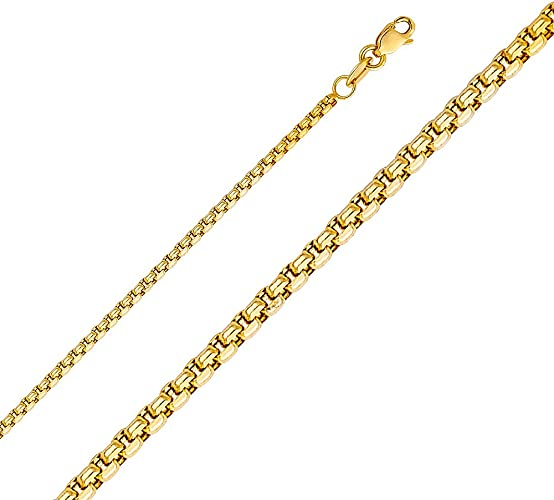 Jewels By Lux 14K Yellow Gold Hollow Rope Chain Necklace With Lobster Claw Clasp