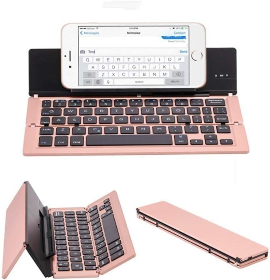Color : B Foldable Rechargeable Pocket Sized Mini BT Wireless Keyboard for iOS Android Windows Laptop Tablet Smartphone SCDJK Folding Bluetooth Keyboard
