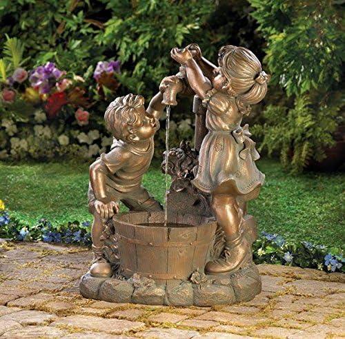 Female Girl Child Statue of Kids Garden Sculpture Yard Lawn Ornament Art Decor