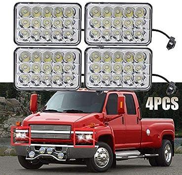 chevy c5500 headlamp wiring amazon com led headlights 4x6 sealed beam housing bulb for for  led headlights 4x6 sealed beam housing