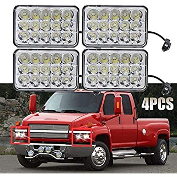 led headlights 4x6 sealed beam housing bulb for for chevrolet kodiak c4500  and c5500 2003-