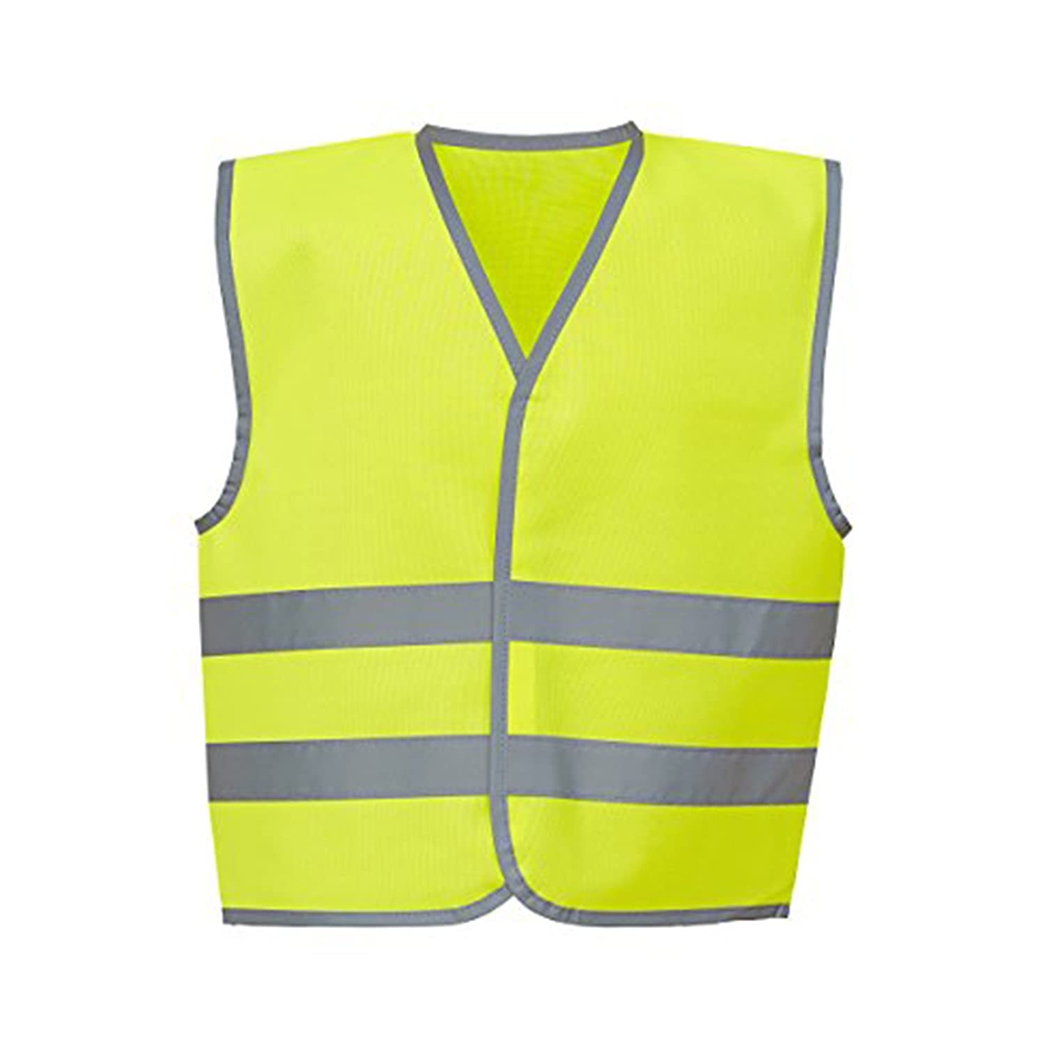 YOKO Hi-vis Reflective Border Kids Waistcoat (HVW102CH) Reflective Border 100% Polyester Fabric with Fastening YK102