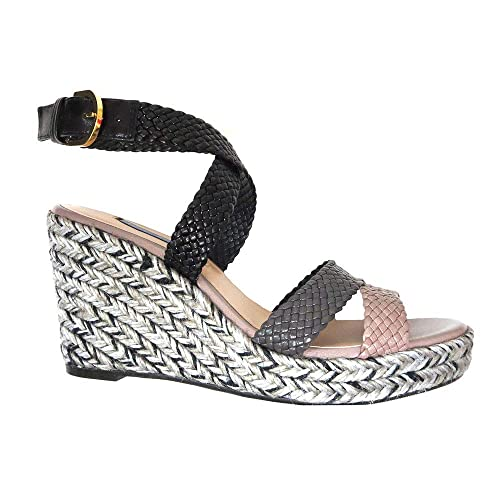 ffd5fecae3d Amazon.com: Elsie Wedge Sandal - BLACK COMBO - 9: Clothing