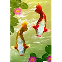 Notebook: Koi Carp fish notebook to write in. For Koi enthusiasts, pond keepers, kids, ideal gift, pretty cover, blank…