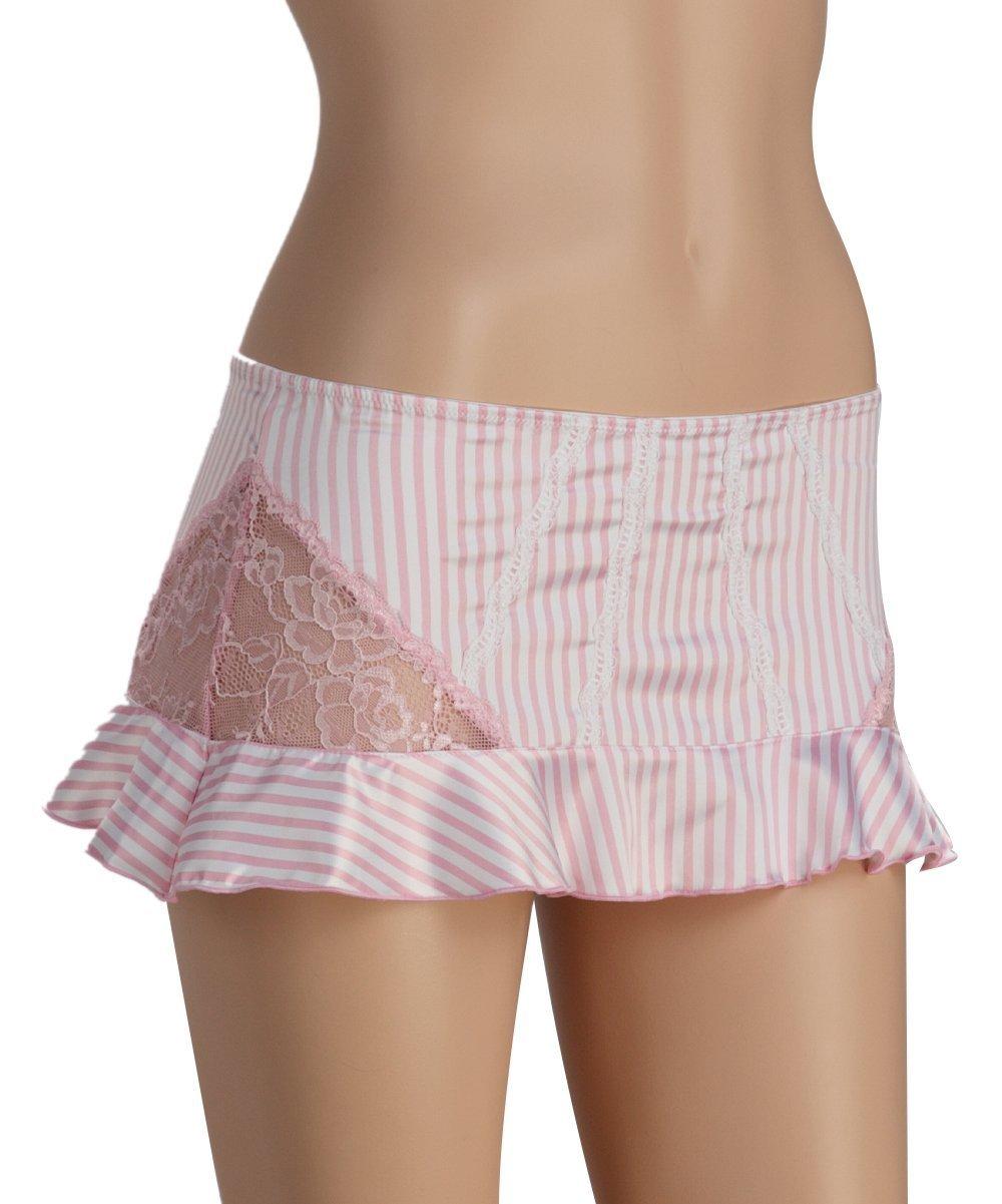 Jezebel Promise Skirt Style 69066 (Medium, Pink White Stripe)