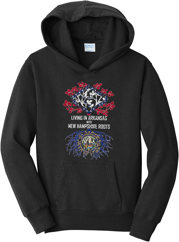Tenacitee Girls Living in Arkansas with New Hampshire Roots Hooded Sweatshirt