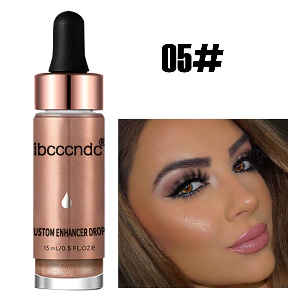 Professional Face Glow Glitter Concealer, Coverage Serum Light Concealer High Pigmented Cosmetic (05#Sunlight)