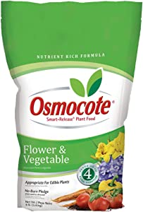 Osmocote 277960 Flower and Vegetable Smart Release Plant Food and Fertilizer (4 Pack), 8 lb