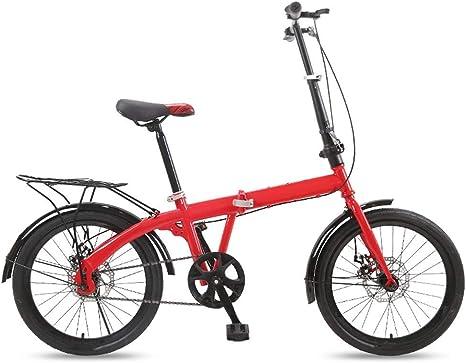 DFKDGL Bicicleta Plegable de 16 Pulgadas Ruedas de 20 Pulgadas Bicicleta para Mujer Niños y niñas
